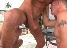 Back Yard Bareback Threesome